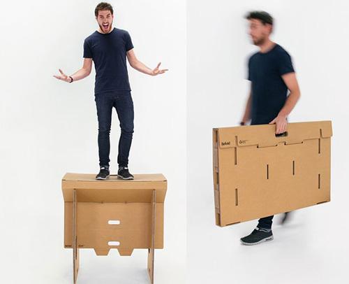 Chiếc bàn độc đáo được thiết kế từ thùng carton