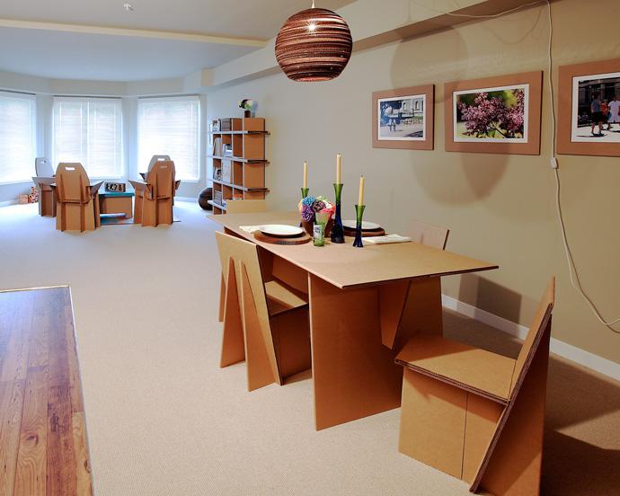 Thiết kế nội thất đẹp từ thùng carton hoặc bao bì carton